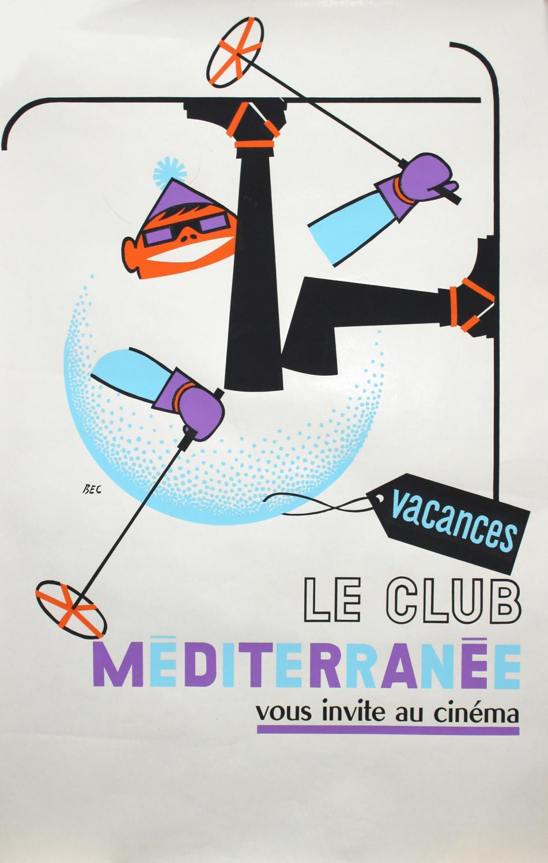 Affiche Club Med, Le Club Méditerranée vous invite au cinéma