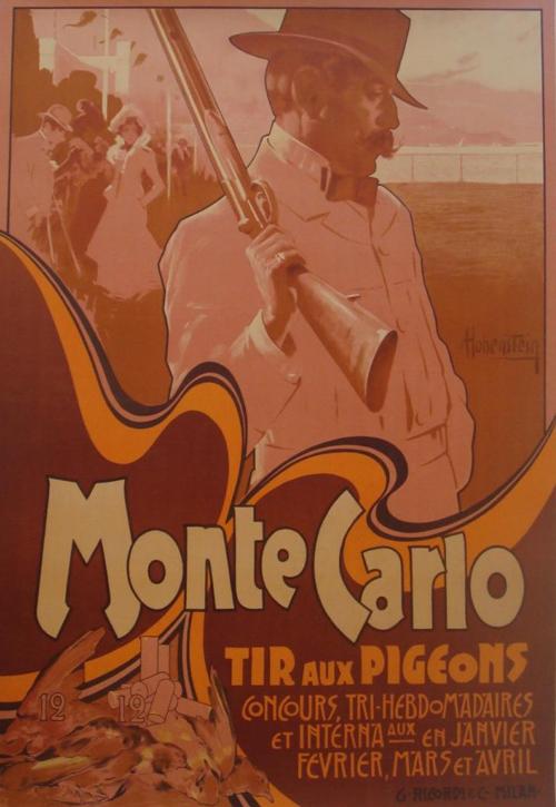 Affiche : Monte Carlo - Tir aux pigeons