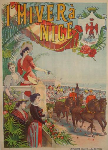 Affiche : L'hiver à Nice