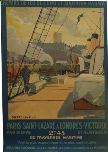 Affiche Chemins de fer de l'Etat et Southern Railway