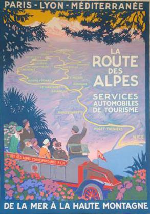Affiche PLM - Route-des-Alpes