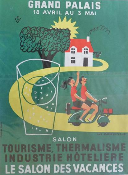 Affiche : Le salon des vacances - camping vacances