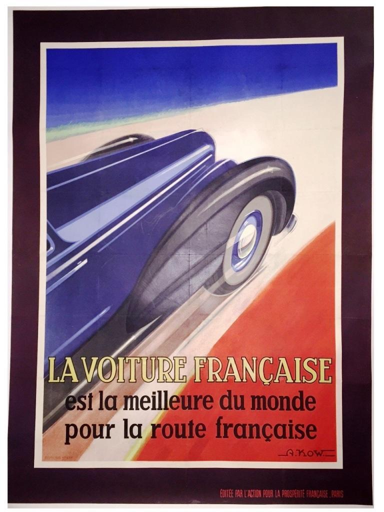 Affiche : La voiture française