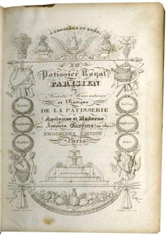 Le pâtissier royal parisien de Antonin Carême