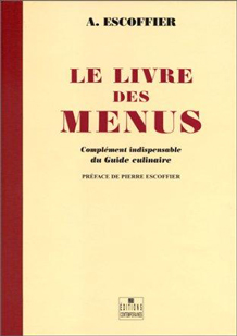 Livre des menus de Auguste Escoffier