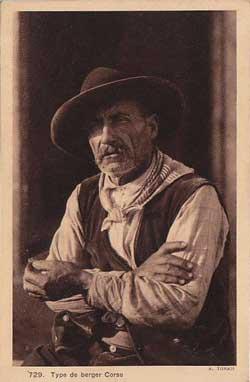 Portrait d'un berger corse