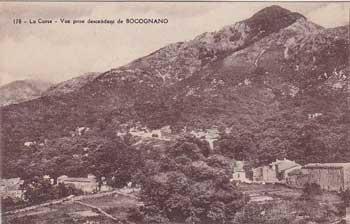 Vue prise descendant de Bocognano