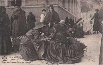 Femmes Corses au marché d'Ajaccio