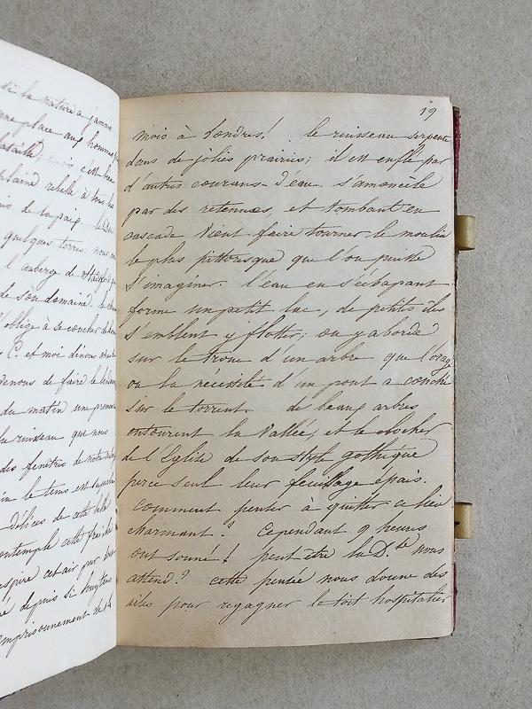 Journal intime manuscrit rédigé par une dame de compagnie de la duchesse de Somerset