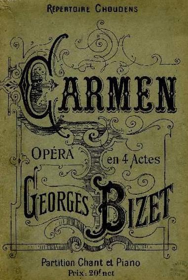 Partitions anciennes de Bizet, Carmen