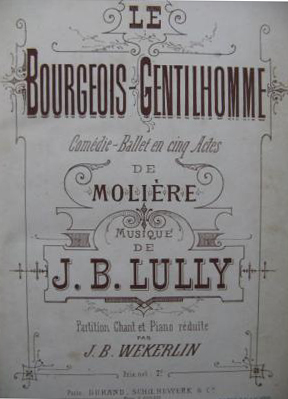 Lully, Le Bourgeois Gentilhomme