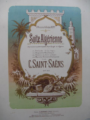 Partitions anciennes de Saint-Saëns, Suite algérienne