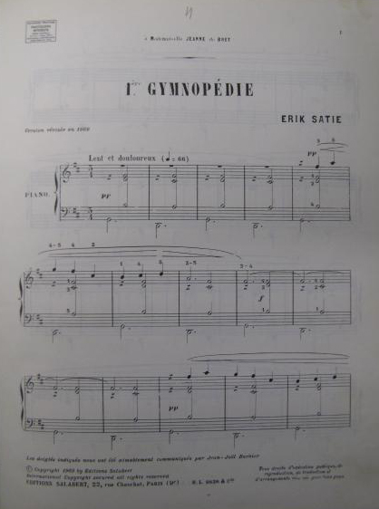 Satie, Gymnopédies
