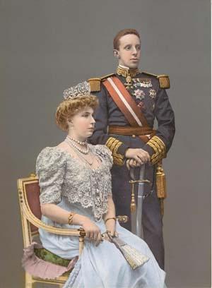 Alfonso XIII d'Espagne & Reine Victoria Eugenia