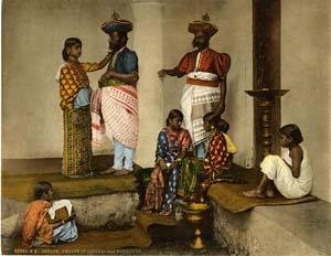 La noblesse Singhalese àCeylan