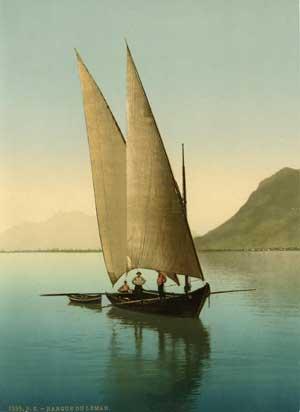 Barque sur le Lac de Genève