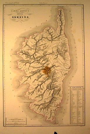 Carta antica della Corsica