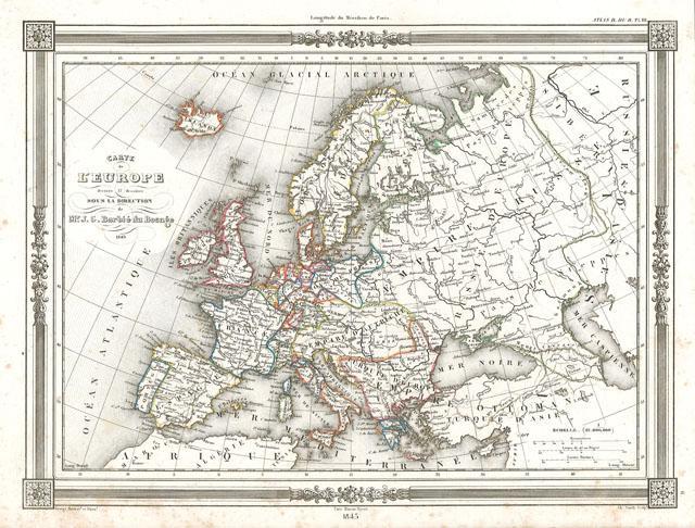 Carta geografica dell'Europa