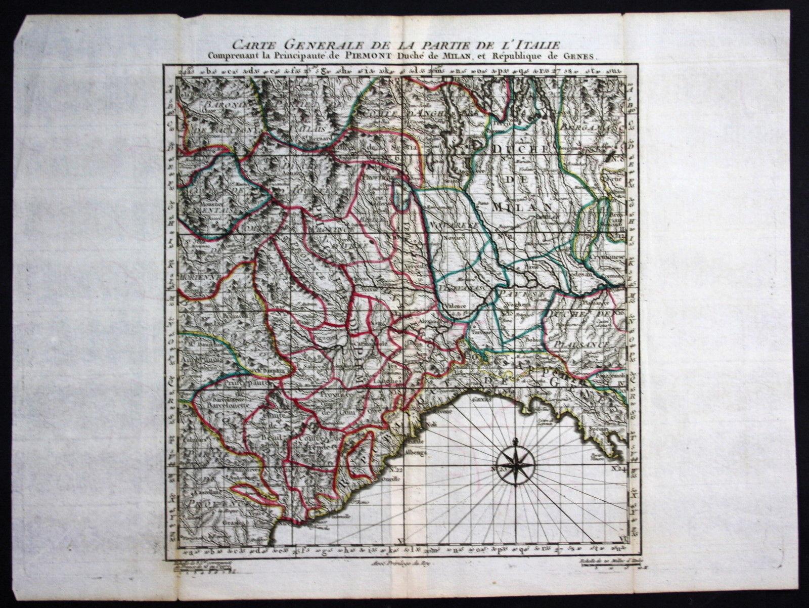 Carta dell'Italia nord-ovest