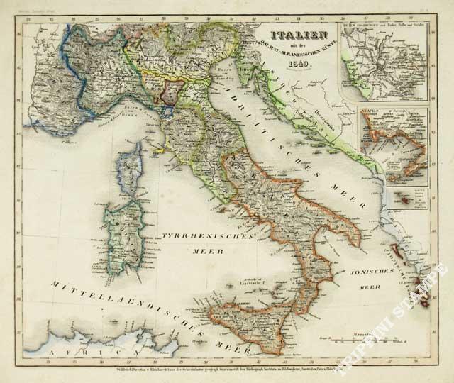 Carta geografica dell'Italia