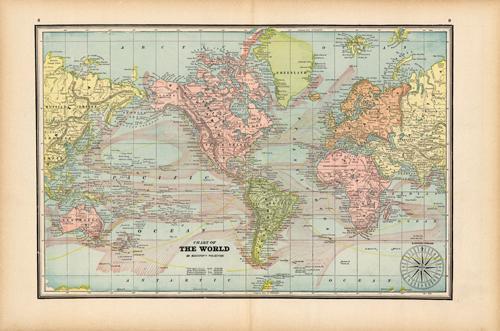 carta geografica del mondo