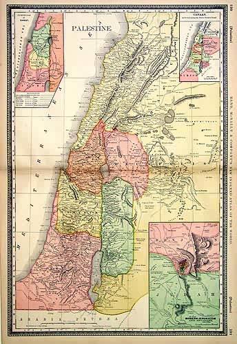 Palestina, mappa a colori