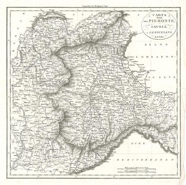 Carta Postale del Piemonte