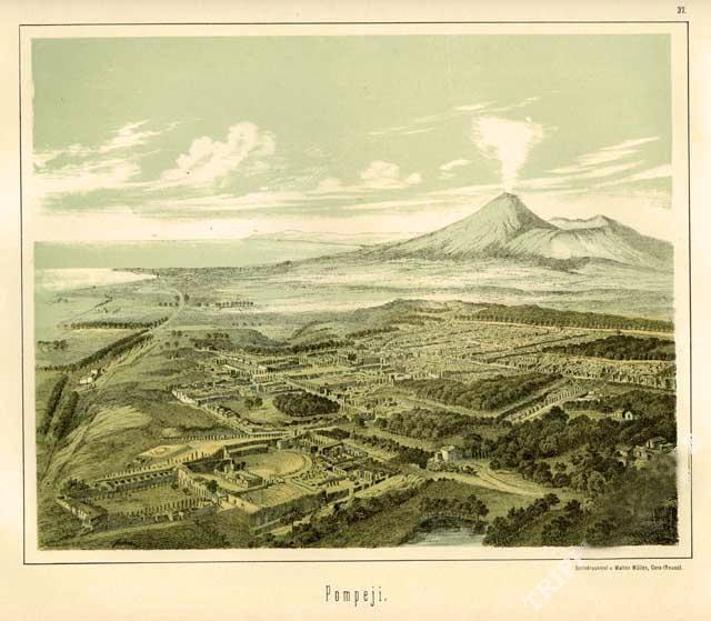 Veduta panoramica di Pompei