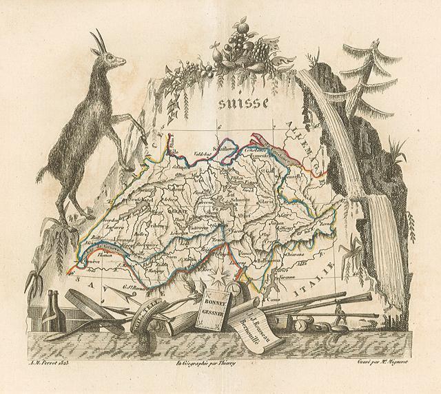 Carta geografica della Svizzera