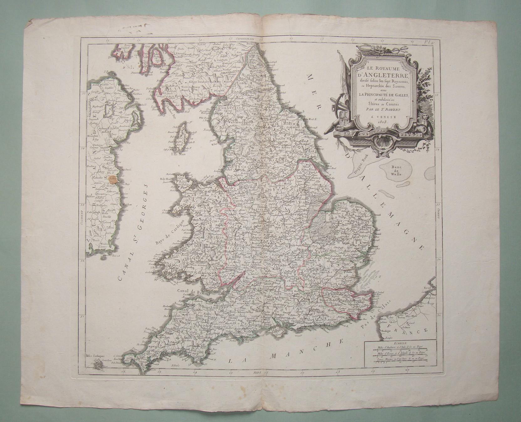 Mappa dell'Inghilterra
