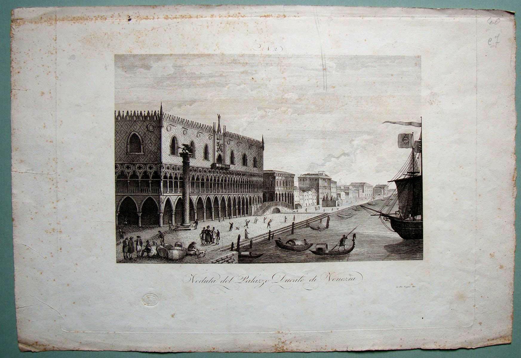 Veduta del Palazzo Ducale di Venezia