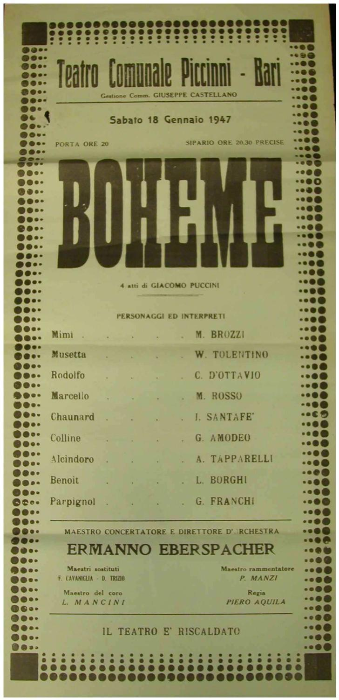 Boheme di Puccini