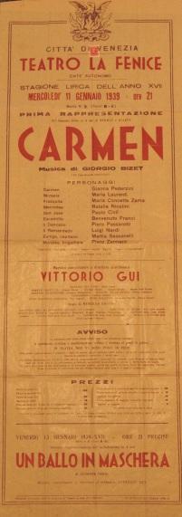 Locandina Teatro La Fenice