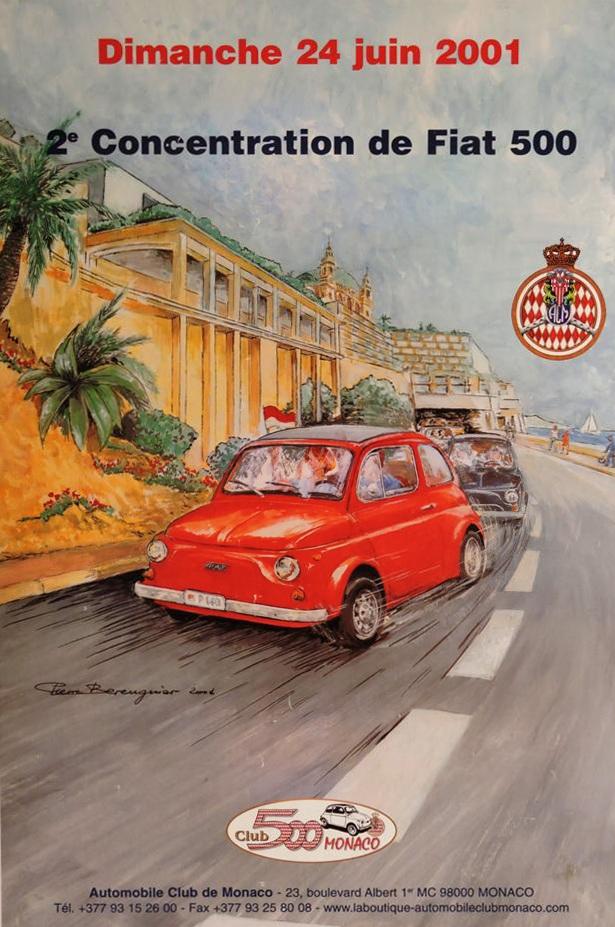 Raduno di FIAT 500 a Monaco