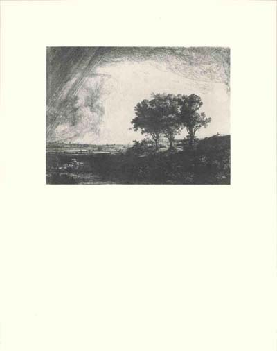 Etching: Three Trees