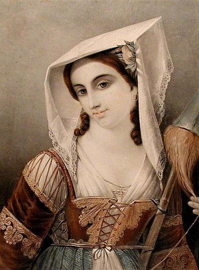 Portrait Art: Adéle la Venitiene, Maitresse du Tintoreto