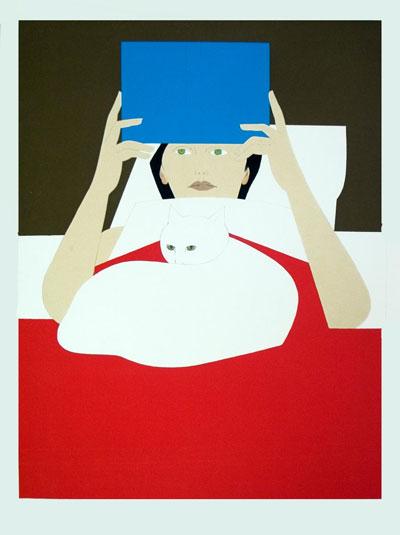 Portrait Art: Woman Reading