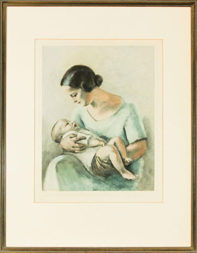 Portrait Art: Mother and Baby
