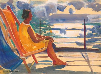Portrait Art: Woman in Gouache