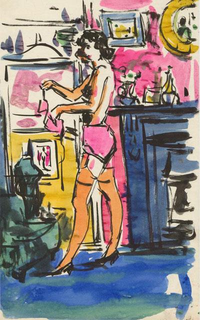 Portrait Art: Lady Undressing