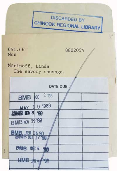 Library checkout record pocket