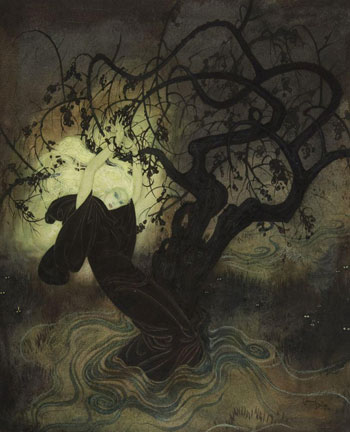 The Buried Moon Original Watercolour illustrated by Edmund Dulac