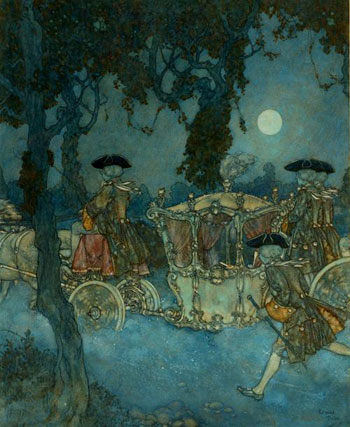 Cinderella Original Watercolour by Edmund Dulac
