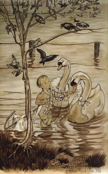 Original Watercolour Peter Pan by Arthur Rackham