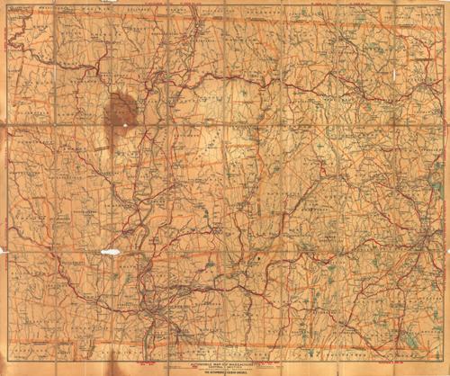 Automobile Map of Massachusetts 1906