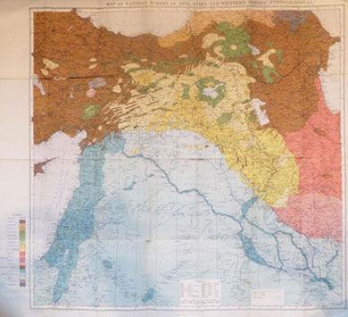 Map of Eastern Turkey in Asia, Syria and Western Persia 1917