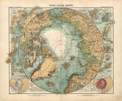 North Pole Map by Adolf Stieler (1905)