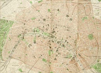 Map of Paris 1948