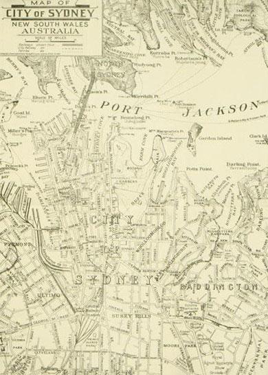 Tourist Map of Sydney 1933