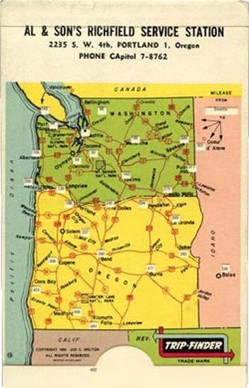 Trip-Finder for Oregon and Washington